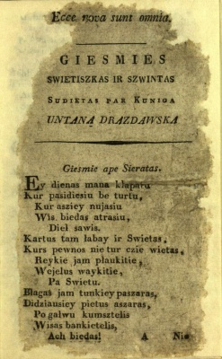 A.Strazdo knygos faksimilė